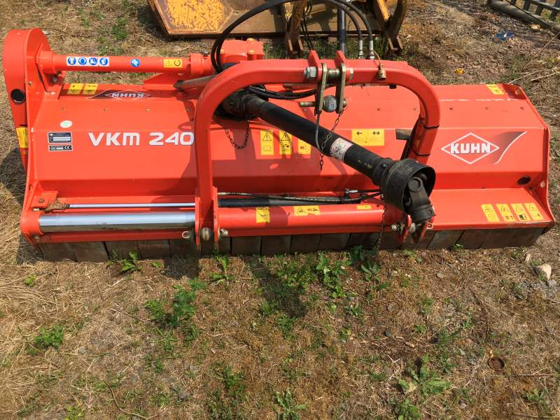 Used Kuhn VKM240 Flail Mower for sale at Collings Brothers of Abbotsley, St Neots, Cambridgeshire