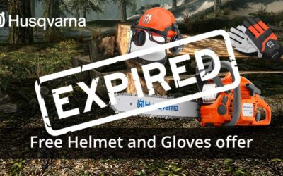 Free Helmet and Gloves with Husqvarna 435 II Chainsaw