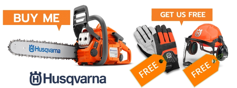 Free Helmet and Gloves with Husqvarna 435 II Chainsaw from Collings Brothers of Abbotsley
