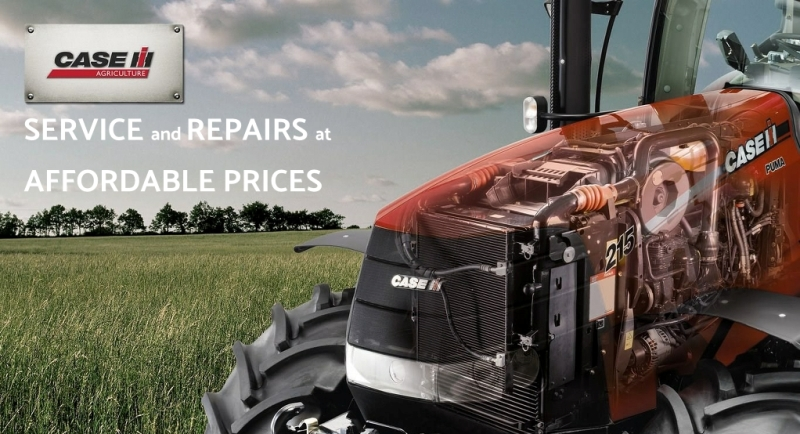 Case IH Tractor service and repairs at Collings Brothers of Abbotsley, Cambridgeshire.