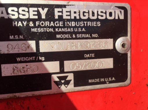 Massey Ferguson 190 LB Large Square Baler for sale at Collings Brothers of Abbotsley, St Neots, Cambridgeshire. UK