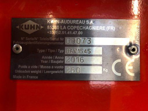 Kuhn BAV 1545 Pasture Topper