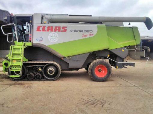 Claas Lexion 580 Terratrac Combine Harvester for sale