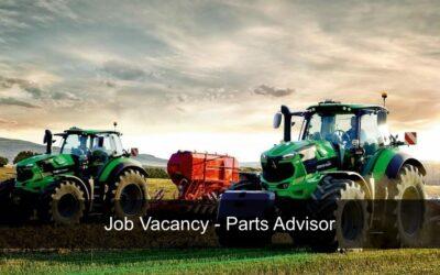 Job Vacancy – Parts Advisor